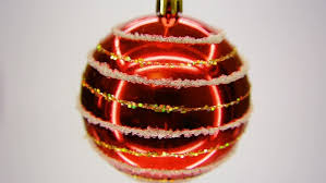 red glass christmas ornament isolated on white background cutout