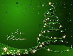 green glitter christmas tree poster background material