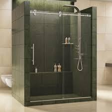 Standard Size Shower Door by Dreamline Enigma 56 In To 60 In X 79 In Frameless Sliding