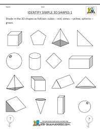 Fun French Worksheets 3d Shapes Worksheets