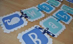 whale baby shower whale baby shower banner for boy personalized so sweet party shop