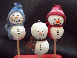 styrofoam snowman ornament craft make handmade ornaments