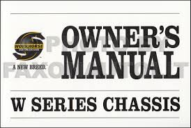 2006 workhorse w series chassis owner u0027s manual original package