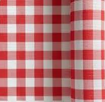 nappe cuisine plastique de nappe vichy blanc 1m20x25m