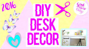 diy desk decor easy and cheap ways to decorate your desk youtube