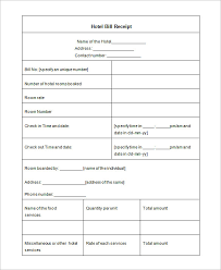 hotel receipt template 17 free word excel pdf format download
