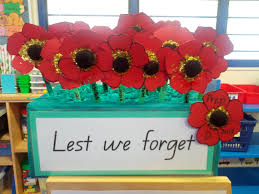my prep class enjoyed making these poppies for anzac day