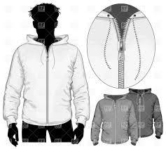 hooded sweatshirt with zipper vector clipart image 5310 u2013 rfclipart