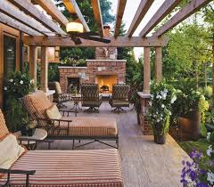 Pergola Deck Designs by Make An Adorable Fireplace In Pergola Deck For Coming Winters