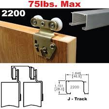 Low Profile Interior Door Knob Sliding Door Hardware Kit 3 Bypass Closet Doors Track Barn Home