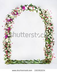 flower arch floral arch on gray background stock photo 150301634