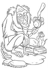 cartoon baboon monkey coloring download u0026 print