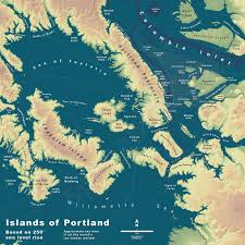 Maps Portland by Map Shows What An Underwater Portland Would Look Like If The