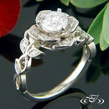 lotus engagement ring diamond lotus engagement ring