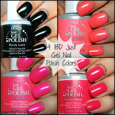 swatches for 4 ibd just gel nail polish colors ibd black lava