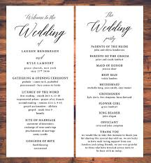 wedding ceremony program classic wedding ceremony programs traditional ceremony program