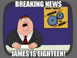 Breaking News Meme - breaking news james is eighteen meme peter griffin news 65369