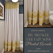 bathroom shower curtain decorating ideas how to change the décor of your bathroom with a simple diy shower