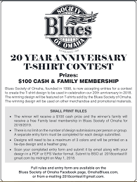 20 yr anniversary bso is seeking a design for our 20th anniversary t shirt blues