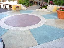 Dyed Concrete Patio by White Cement Colored Concrete Decorative Concrete Concrete Decor