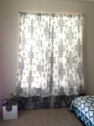 What Is A Curtain Lengthen An Existing Curtain Diy Two Color Window Curtain U2013 Crazy