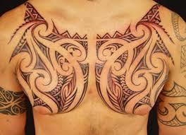 hawaiian polynesian chest polynesian tattoos