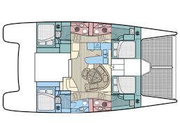Catamaran Floor Plans 2003 Robertson And Caine Leopard 47 Catamaran Sailboat For Sale In