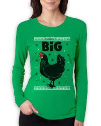big black funny ugly christmas women long sleeve t shirt