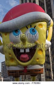 spongebob squarepants balloon float at macy s 85th annual stock