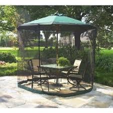 Patio Sets With Umbrella Amazon Com Patio Umbrella Mosquito Net 9ft Umbrella Black