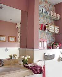 pink bathroom decorating ideas small bathrooms design glass shelves white pink bathroom