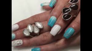 gel and acrylic nail ideas 2017 ballerina holographic mirror youtube
