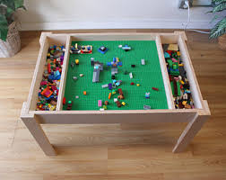 Kids Activity Table With Storage Lego Table Etsy