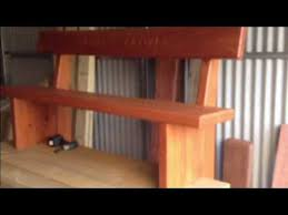 Simple Wood Bench Seat Plans by Making A Garden Bench Seat Youtube