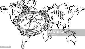 compass direction drawing vector art getty images