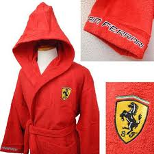 ferrari clothing ferrari dressing gown robe embroidered medium 100 official