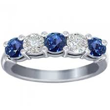 wedding band costs 1 00 ct cut diamond and blue sapphire wedding band ring