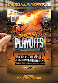 basketball playoffs flyer by larajtwyss graphicriver