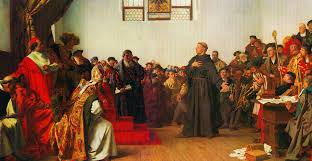 thesis of martin luther this day in history october 31 1517 luther posts his thesis luther before the diet of worms by anton von werner 1843 1915