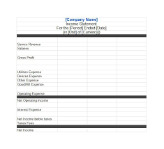 Year To Date Profit And Loss Statement Free Template by 27 Income Statement Exles Templates Single Multi Pro