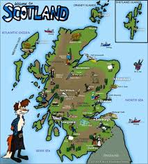 Map Of Scotland And England Civilization Scotland Esl Resources