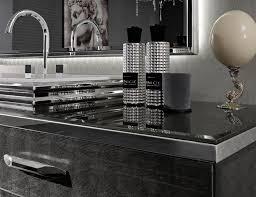 Silver Bathroom Vanities Milldue Mitage Hilton 02 Silver Alligator Glass Luxury Italian