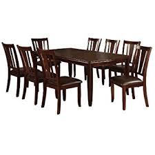 furniture kitchen table set amazon com furniture of america dallas 9 transitional