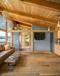 Small Cabin Home Look At The Beautiful Modern Lines In This Small Cabin Filled With