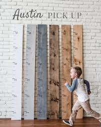 austin local pick up growth chart ruler height chart