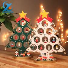 diy cartoon wooden christmas tree decoration christmas gift