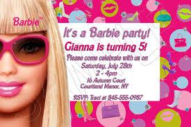 Birthday Invitation Card Free Party Invitations Best Barbie Party Invitations Ideas