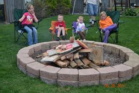 Backyard Fire Pit Design by Home Design Backyard Brick Fire Pit Ideas Eclectic Expansive