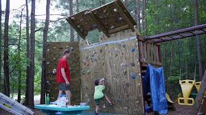 build a backyard climbing wall bring fun and healthy with