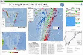 Tonga Map M 7 4 282km Sw Of Vaini Tonga